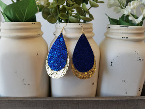 Royal Blue and Gold Glitter