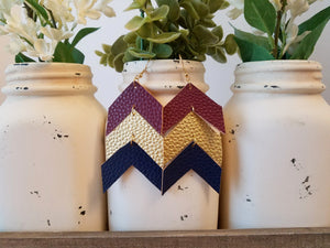 Navy and Burgundy Chevron