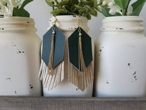 Green over Gold Fringe
