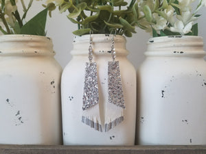 Silver and White Dangles