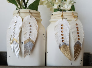White Tribal Feathers