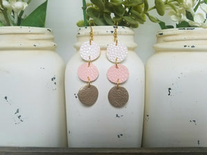 Pink Round Dangles