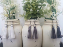 White and Grey Tassels