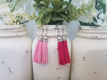 Pink Leather Tassels