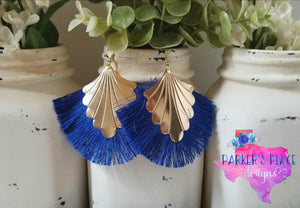 Blue Peacock Thread Tassels