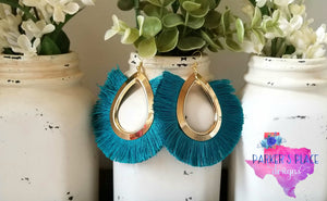 Teal Thread Tassels