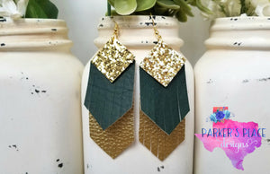 Gold and Green Fringe