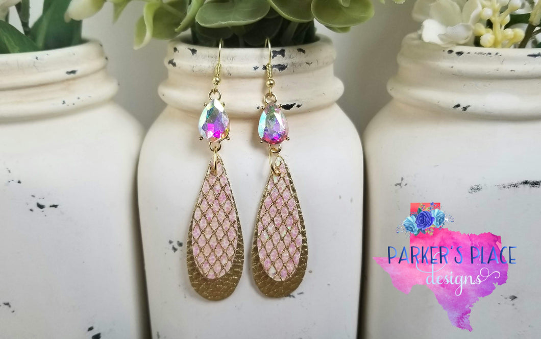 Opal and Gold Dangles