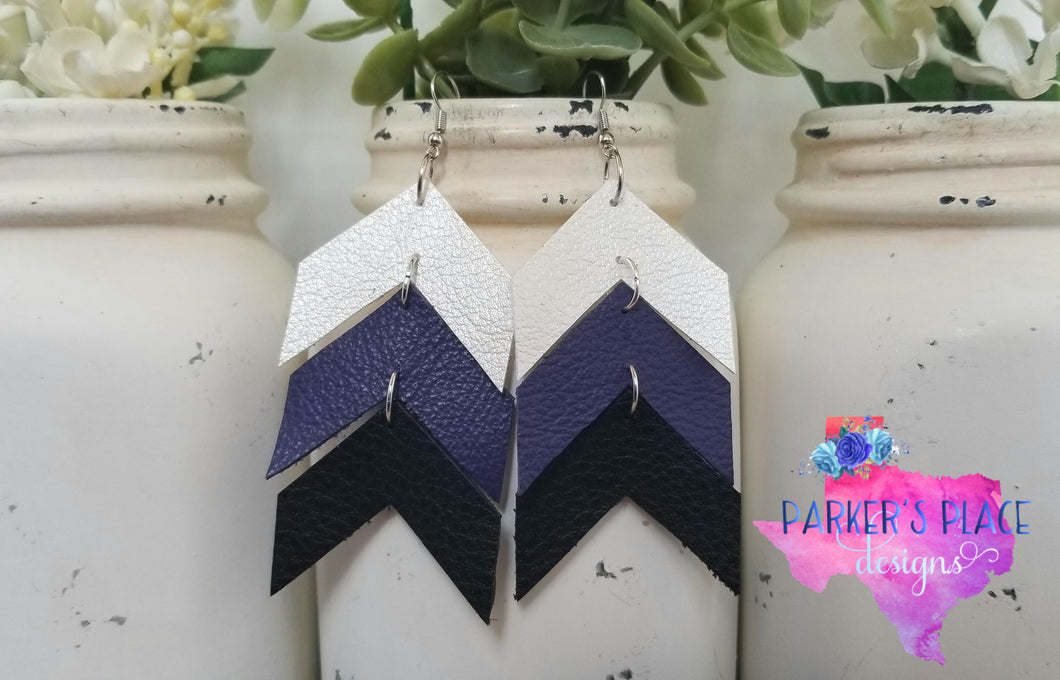 White, Purple, Black Chevron