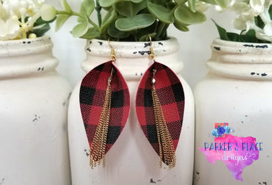 Buffalo Plaid Gold Pinched Leaf