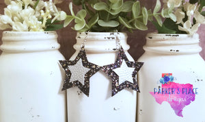 Black and Silver Star