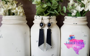 Navy and Silver Dangles