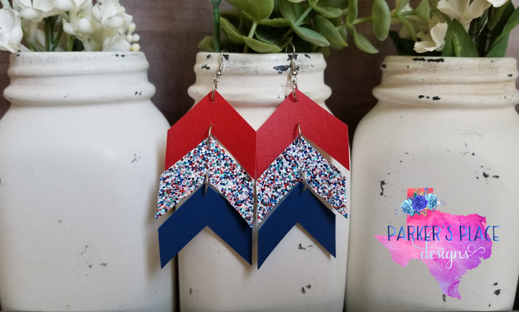 Red, White, and Blue Chevron