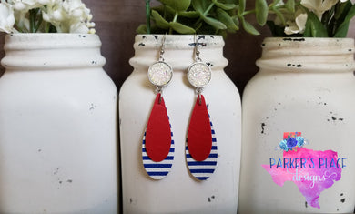 USA Teardrop Dangles