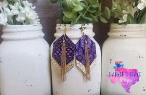 Mystic Purple and Gold Dangles
