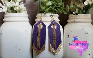 Purple and Gold Fringe