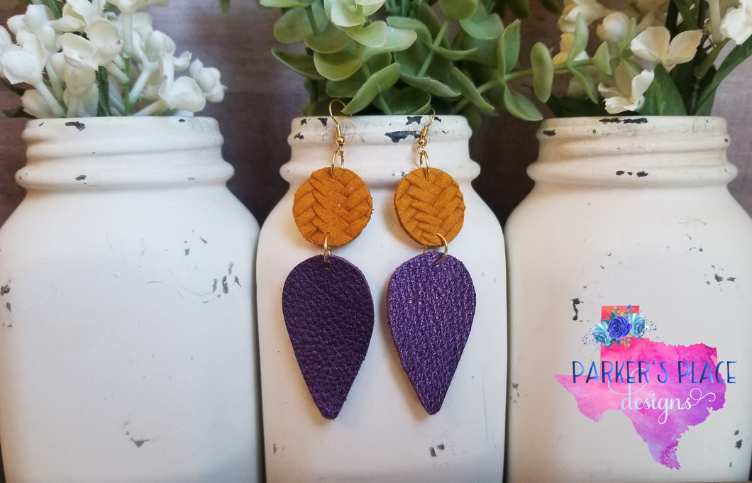 Purple and Yellow Dangles