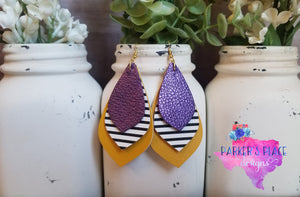 Purple, Stripes, and Mustard Petal