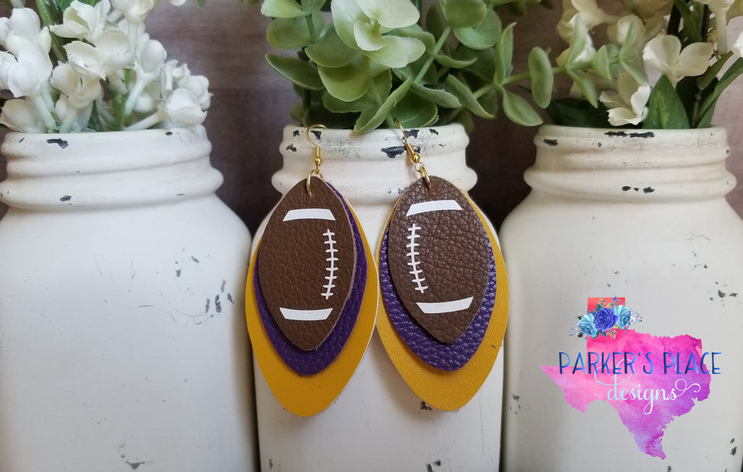 Purple and Yellow Football Leaf