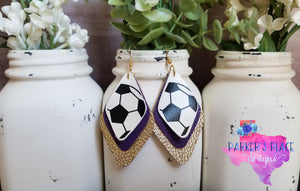 Soccer, Purple, Gold Diamond