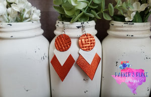 Burnt Orange Geo Dangles