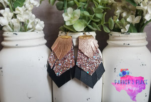 Rose Gold and Black Fringe