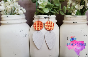 Orange and White Dangles