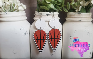 White and Stripes Basketball Dangles