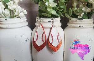 Baseball and Orange Petal