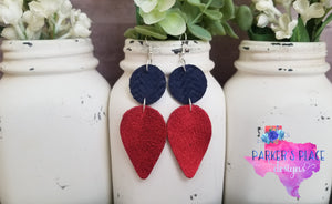 Navy and Red Dangles
