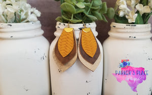 Mustard and Brown Dangles