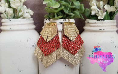Gold and Red Fringe