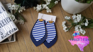 Navy Striped Petal