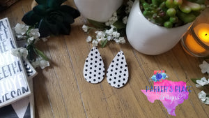 White and Black Polkadot Teardrops