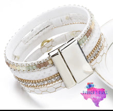 White and Gold Wrap Bracelet