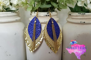 Indigo and Gold Leaf
