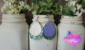 Periwinkle and Mint Teardrops