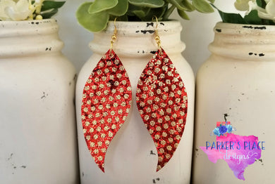 Red and Gold Polkadot Wings