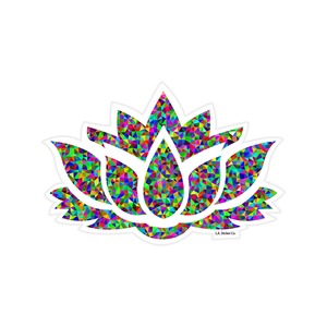 Holographic Lotus Flower Sticker