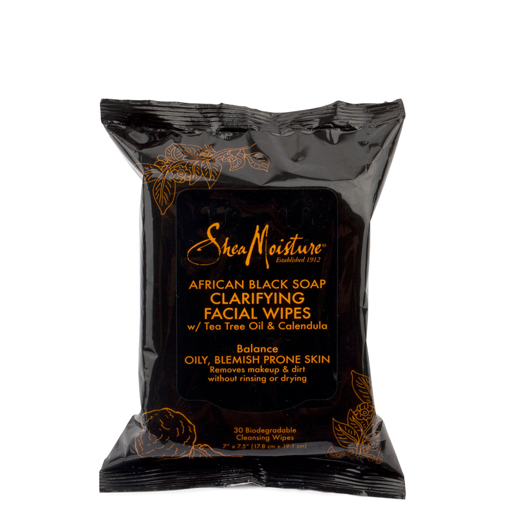 African Black Soap Clarifying Facial Wipes