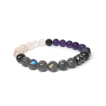Gemstone Bracelet for Love, Grounding, Guidance, and Letting Go