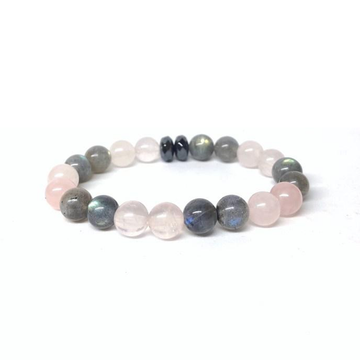 """Free Your Heart"" Gemstone Bracelet - Rose Quartz, Labradorite, Hematite"