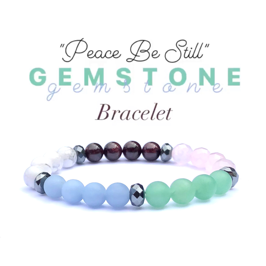 """Peace Be Still"" Gemstone Bracelet"