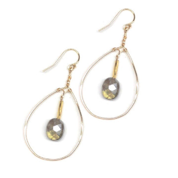 Labradorite Gold-Filled Teardrop Earrings