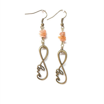Love, Light and Aloha Earrings - Sunstone