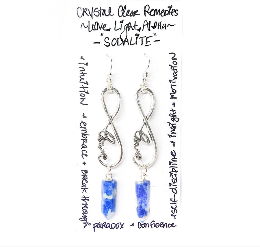 "Sodalite ""Infinite, Confident Love"" Earrings"