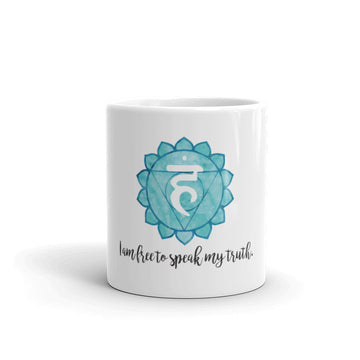 Throat Chakra - I am free to speak my truth - Affirmation Mug