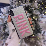 Embroidered Pink iPhone Case