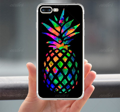 Neon Colors Pineapple Case