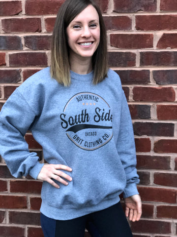 NEWLY REDESIGNED Authentic South Side Chicago Crew Neck Sweatshirt